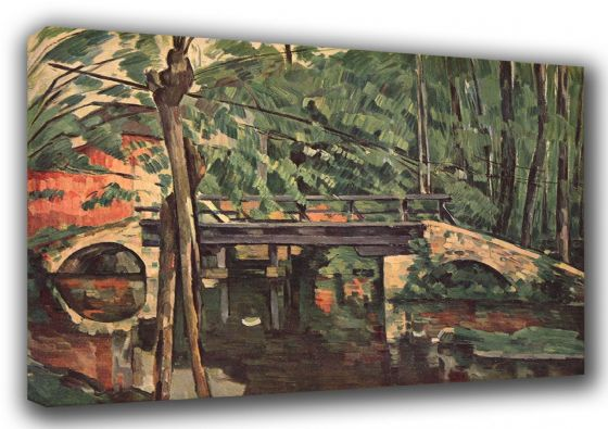 Cezanne, Paul: Le Petit Pont. Fine Art Landscape Canvas. Sizes: A3/A2/A1 (001027)